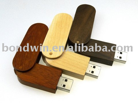 Swivel Woden usb drive