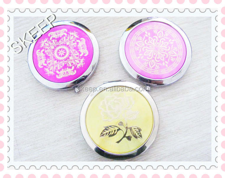 Promotional gift Metal cheap pocket mirror from China manufacturer /handheld makeup mirror