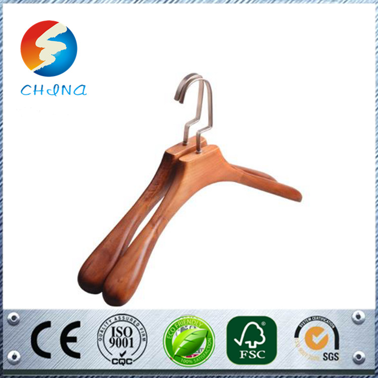 Multifunctional neckties metal hangers beech wood hanger focked display hanger online shopping