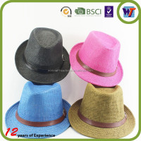 Band straw discount hats fedora and trilby hat hot