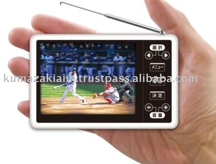 "Portable digital TV with 3.5"" TFT screen"