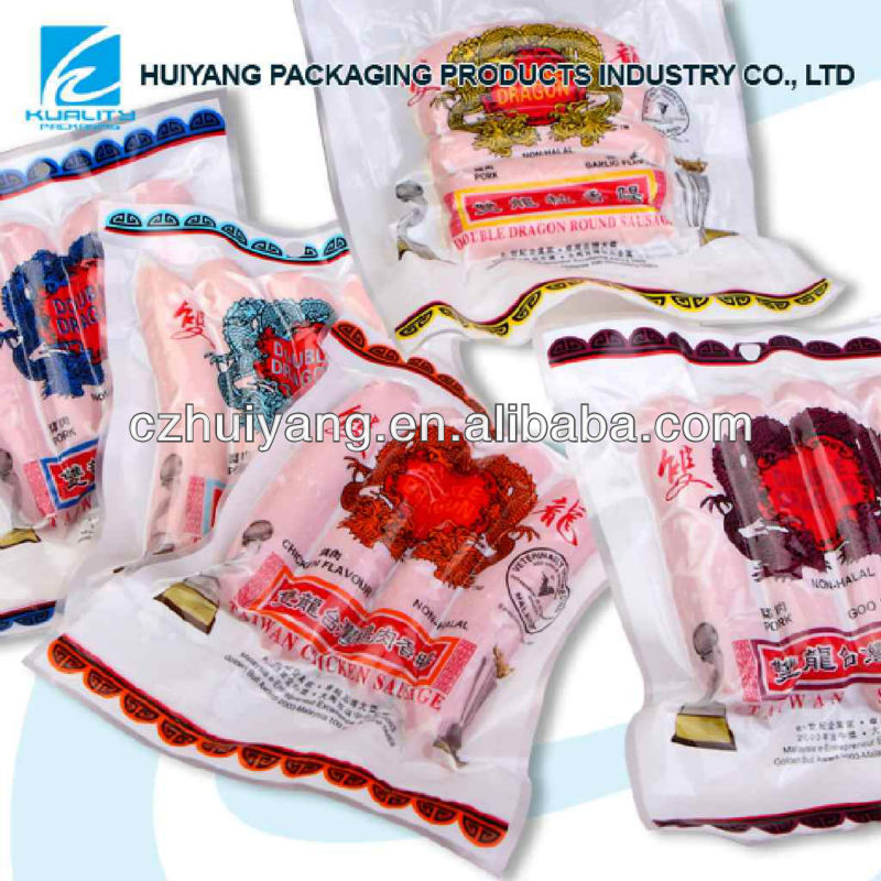 Hot!!!Top Quality NY/LDPE Plastic high temperature vacuum bags for frozen food packaging with gravure vivid printing