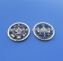 Double Sided Craft Coin Amazing Masonic Coins With Diamond Cut Edge Coin