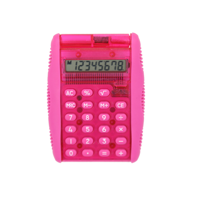 8 Digits Electronics Pocket Calculator with Removable Cover