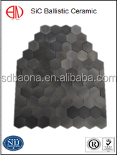 Sintered Silicon Carbide Ballistic Resistance Ceramic Collected Hexagonal Tiles For Police Body Vests