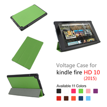 High quality tablet shockproof PU leather protective cover case for Kindle Fire HD 10 tablet cover case