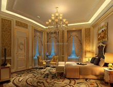 Luxurious 3D Interior Rendering For European Master Bedroom And Furniture Supply