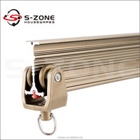 flexible sliding car curtain track/cubicle window curtain track