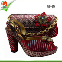 high heels italian red sexy shoes match handbags for ladies wedding
