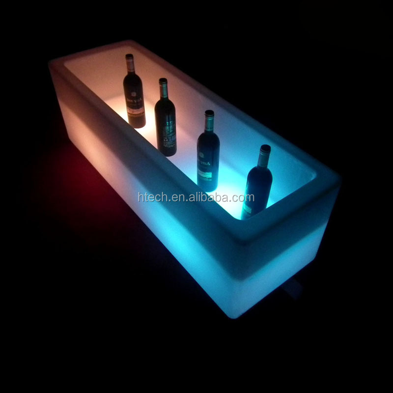 Illumianted waterproof led rechargeable li battery operated led ice bucket/wine cooler