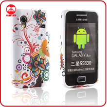 New Stylish Colorful Flower Pattern Design Silicon TPU Case for Samsung Galaxy Ace s5830