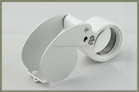 MG21011 40x LED Light Diamond Magnifier, Pocket Magnifier Loupe