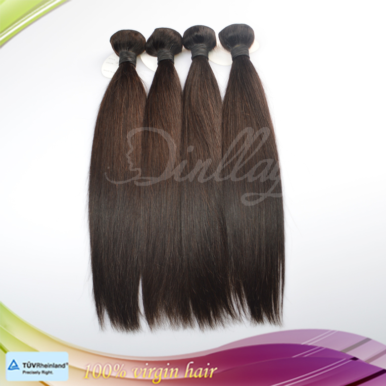 Wholesale silky straight hair remy Brazilian natural hair weft