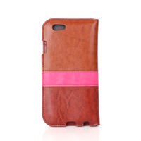 Hit color luxury high quality pu leather case for Iphone 6 iphone 6s