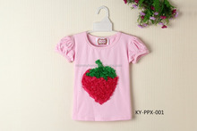 wholesale cute baby girls cotton t shirt with lovely designs,boutique toddlers short sleeve t shirt MC6012103
