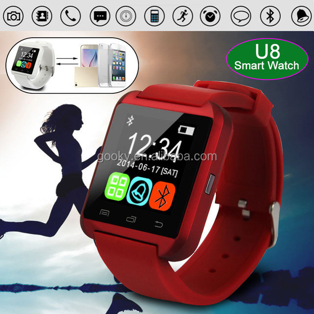 Bluetooth U8 Smart Watch Wrist Watches With Altimeter for iPhone 6 Samsung S6 Note 5 HTC Android Phone In Gift Box