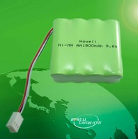 CE Approved High temperature nicd aa 700mah 9.6v / aa 800mah 9.6v nicd battery pack / nicd battery pack aa 700mah 9.6v