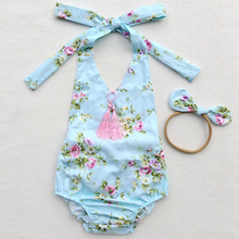 Girls Clothing Wholesale Trousers With Braces, Tassels Floral Rompers Baby Girl