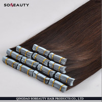 Hair Extensions Sticker Skin Weft 26 inches 40g/pack PU Tape Glue Skin Weft 100% European Remy Human Hair Tape Hair