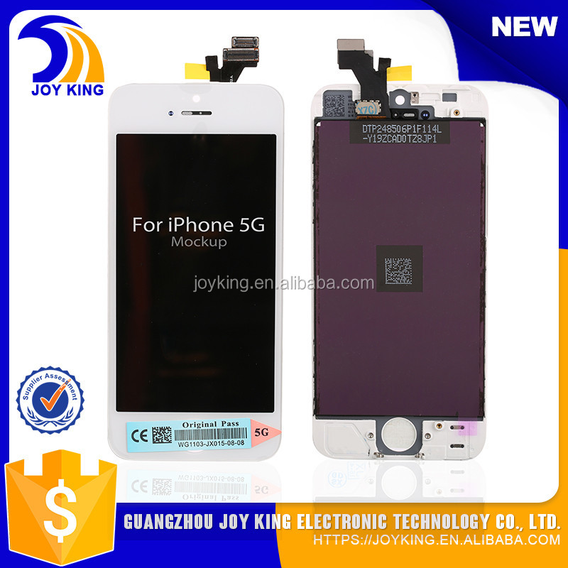 100% Original AAA grade digitizer assembly Glass touch screen display for iphone 5 lcd replacement