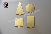 mini gold round cake drums or cake boards