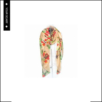 Customizable digtial printed elegant silk chiffon scarf