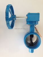 grooved butterfly valve with worm gear operate