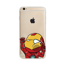 Cartoon character printing transparent phone case for iphone