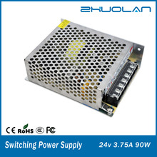 CE.ROHS approved 24v 3.75a switching power supply 90w led power supply