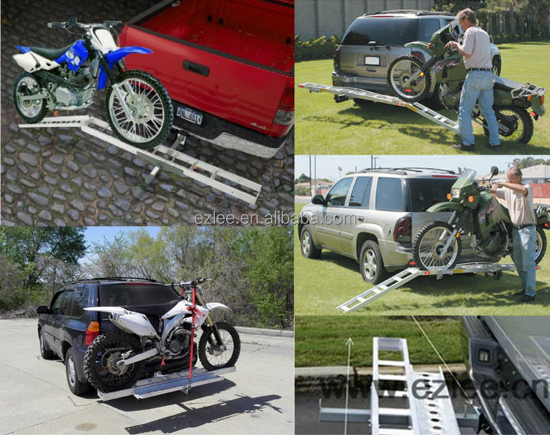 steel aluminum hitch motorcycle carrier ramp rack