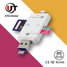 TF/SD Memory Stick USB Card Reader for iPhone 66s 5 5s 5c External Memory i-FlashDevice HD USB Adapter
