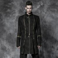 Y-506 Brand punk and rock metallic alternative men's gothic long coat
