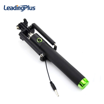 Wholesale selfie stick with cable, selfie stick with universal phone stand
