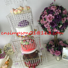 4tiers clear acrylic crystal cake stand for wedding