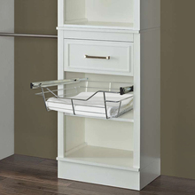 Storage pull out drawer metal wire basket with slides