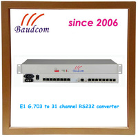 31 Channel RS232 to E1 Converter with rj45 to db9 cable