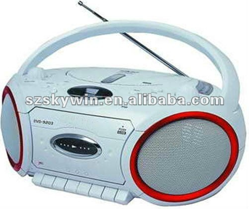 Home portable DVD Boombox player with cassette player