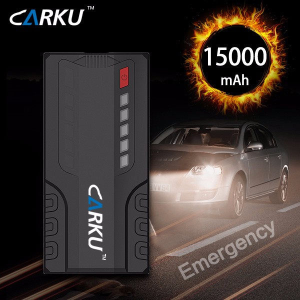 New Battery 15000mAh Car Jump Starter Mini Portable Power Bank 12V Charger for Petrol & Diesel Car with ABS Case