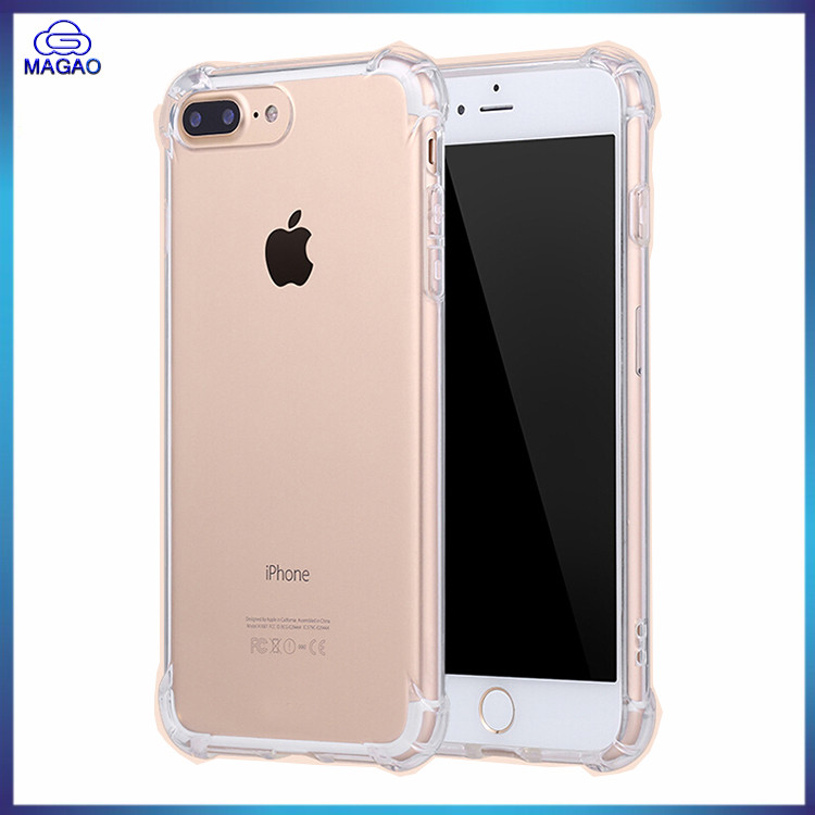 Ultra Thin Transparent Clear TPU+PC Shockproof Bumper Back Case Cover For iPhone 7 7 Plus