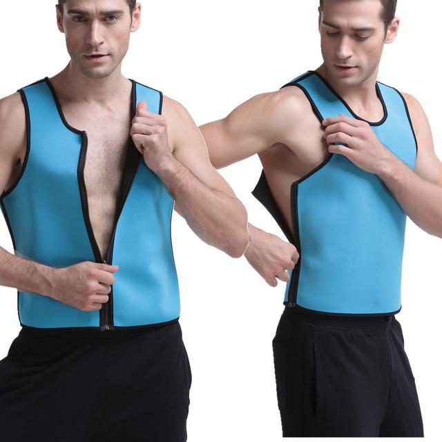 Slimming Vest Body Shaper Shirt for Weight Loss Neoprene Men Sweat Vest
