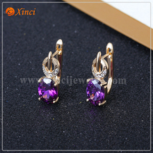 Latest Fashion Design 925 Sterling silver Earing with Zicon Wholesale Amazing Silver Jewellery