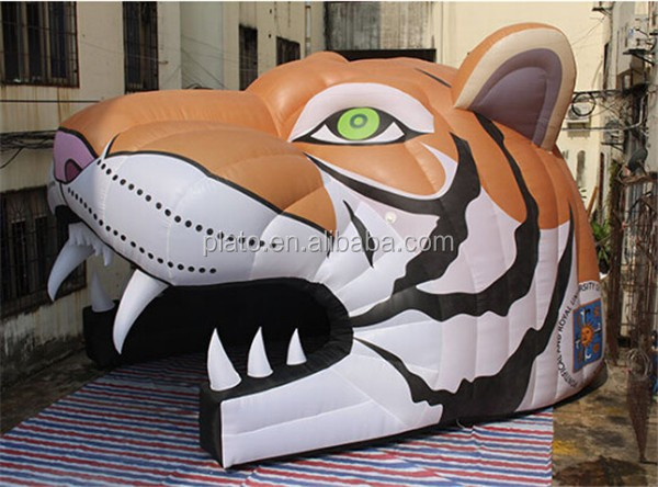 Large inflatable tiger tunnel,inflatable tiger arch tent for Event decoration