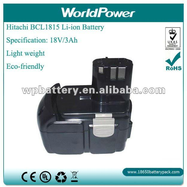 Manufacturer~HITACHI Power tools 18V 3Ah Lithium Ion battery