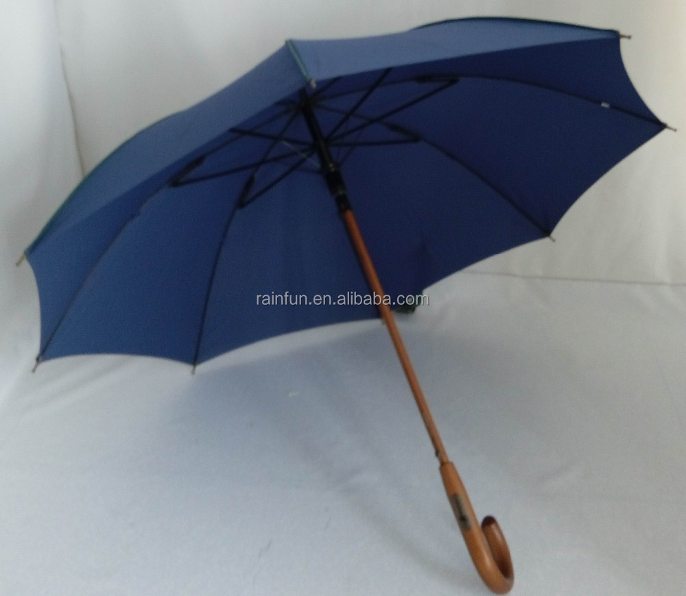 60cm High Quality Walking Stick Umbrella With Wooden Shaft