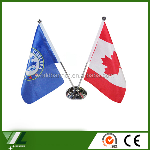 sports meeting table flag nations table flag with stand
