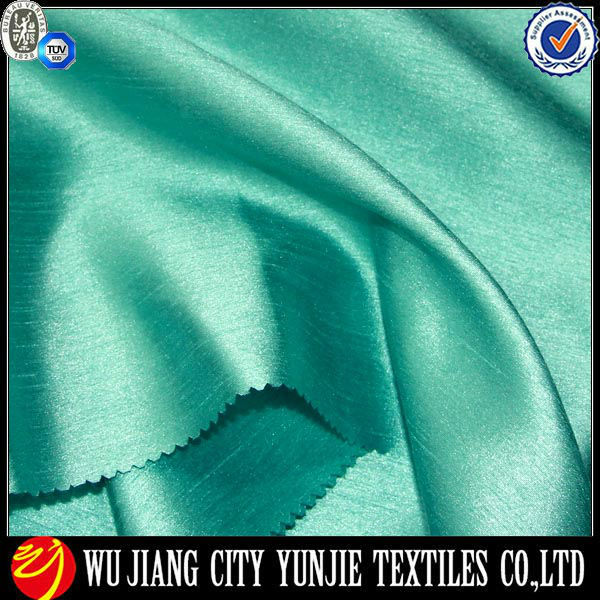 Polyester soft home decorative Azure silk dupioni fabric