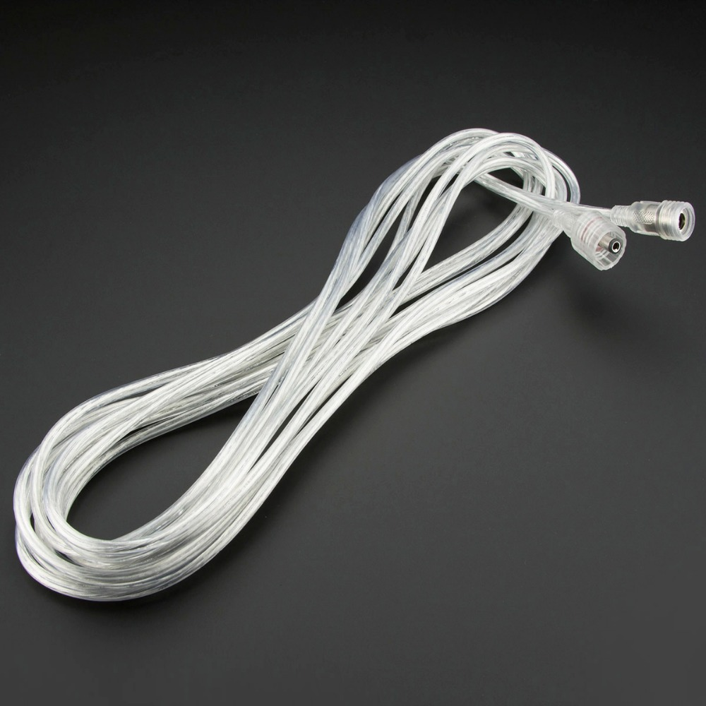 15' Transparent Waterproof IP67 LED Strip Extension Cable