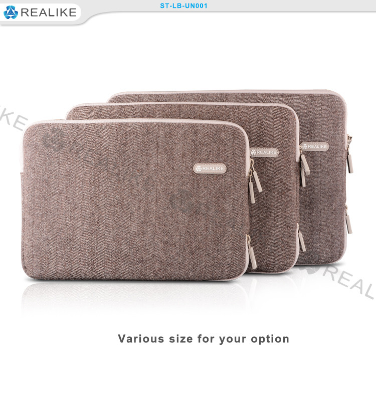 13.3inch protective sleeve,fashion design brown computer accessories,custom bag