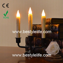 AA battery operated plastic LED taper candle