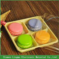 Customized Clear Plastic Macaron Packaging Box